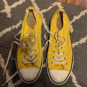 Yellow Converse Sneakers